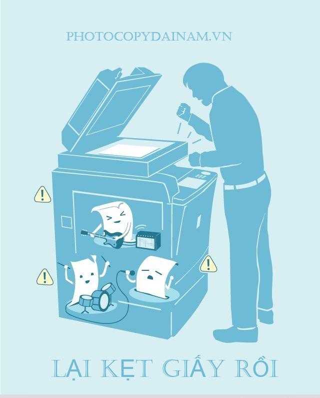 Kẹt giấy máy photocopy